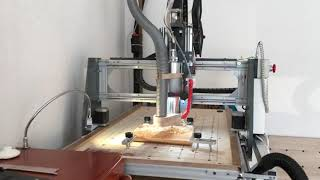 DIY CNC wood cutting with 2mm end ball cutter tool