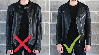 The Last Leather Jacket Fitting Guide You'll Ever Need | How a Leather Jacket Should Fit!