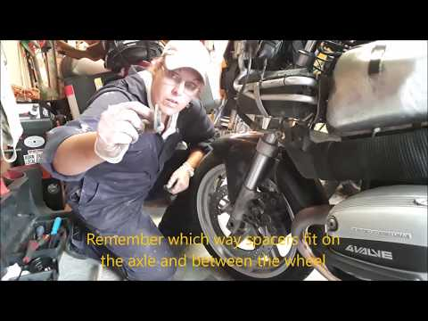 Remove Front Wheel BMW R1100s - similar for all R series 1998 - 2005