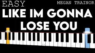 Like I'm Gonna Lose You - Megan Trainor   EASY Piano Tutorial