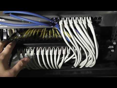 Aufbau eines Netzwerkschrank