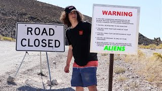 Roads Closed at Area 51 (Sneaking Through)