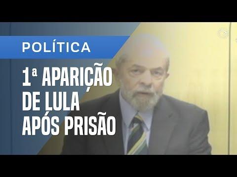 Estou cansado de mentiras, diz Lula em 1ª aparição pública após a prisão...
