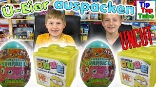 Moshi Monsters Ü Eier und Minions Surprize Qube auspacken Uncut Spielzeug Unboxing TipTapTube