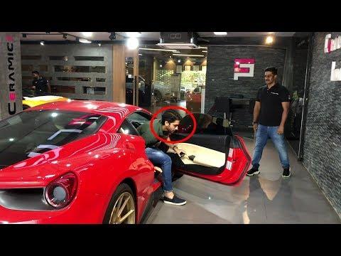 Actor Naga Chaitanya Arriving In His Ferrari| Ceramic Pro India | Hyderabad India