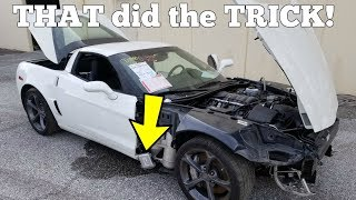 THIS is why the Cheap Salvage Corvette Won't Start! Easy $100 Fix!