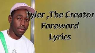 Tyler ,The Creator Foreword Lyrics - YouTube