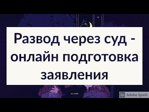 Расторжение брака через суд (развод через суд - онлайн подготовка заявления sudbot.ru)