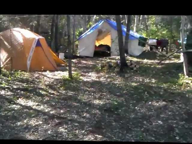 2012 remote fall bear hunting tent camp