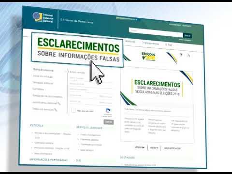 '.Fake News: TSE lança página para esclarecer eleitores.'