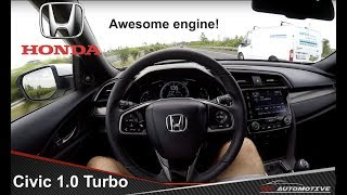 Honda Civic 5D 1.0 VTEC Turbo Executive POV Test Drive + Acceleration 0 - 160 km/h
