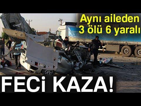Amasya'da Feci Kaza! Aynı Aileden 3 Ölü, 6 Yaralı