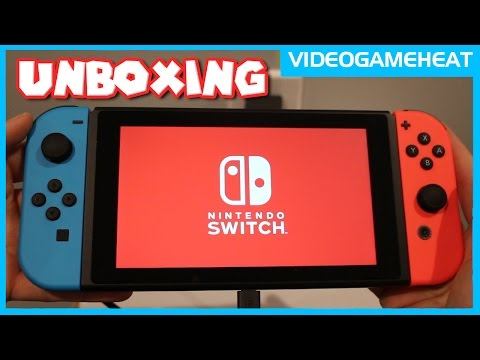 NINTENDO SWITCH UNBOXING & Surprise REACTION to Neon Blue/ Red Joy Con & Hardware Analysis