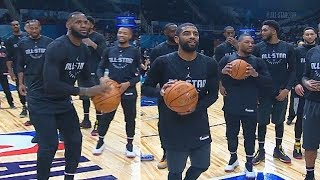 Half Court Shot Contest! LeBron James vs Kevin Durant, Kyrie Irving, Klay Thompson, & James Harden