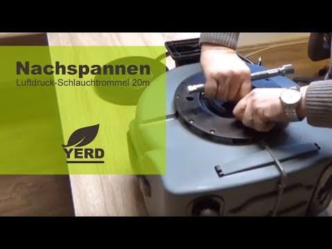 Einzug-Feder nachspannen bei deiner automatischen YERD Luftdruck Schlauchtrommel 20m