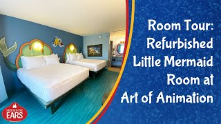 Art Of Animation - Newly Remodeled Little Mermaid Room - Room Tour