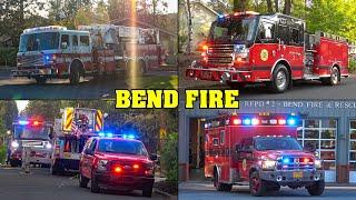 [STRUCTURE FIRE] - Bend Fire Department | Ladder Truck & Ambulance Responding + On Scene
