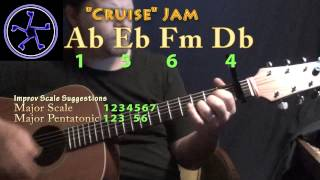 Cruise Jam - 1564 in Ab Major - Acoustic Guitar Instrumental