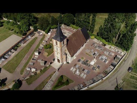 L'église de Grossoeuvre vue par drone