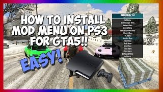 HOW TO INSTALL MOD MENU GTA5 (PS3) 1.26 NO JAILBREAK (USB MOD)