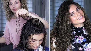 HOW TO FINGER COIL LONG CURLY HAIR