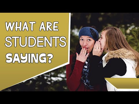 What Students Are Saying.