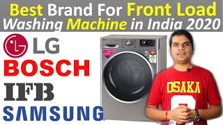 Best brand for Washing machine in India 2020 [Front Load washing machine ]