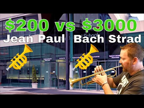 Jean Paul Silver $200 Trumpet review vs $3000 Bach Stradivarius trumpet – Juilliard School of Music