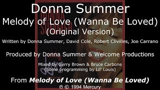 "Donna Summer - Melody of Love (Original Version) LYRICS - SHM ""Melody of Love"" 1994"