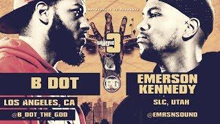 B DOT VS EMERSON KENNEDY SMACK/ URL RAP BATTLE