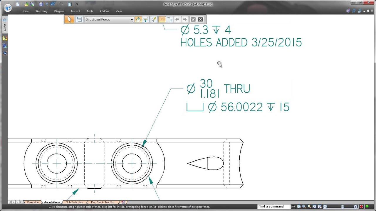 Vorschaubild: Solid Edge ST8: Neuerungen im Draft-Bereich