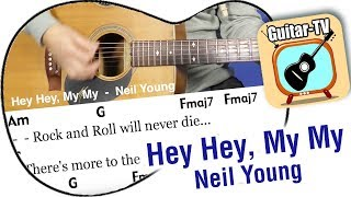 20.2. Hey Hey, My My - Neil Young, Cover With Lyrics, Chords, Tutorial