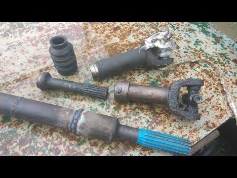 Замена и усиление шлицевого соединения кардана JEEP своими руками