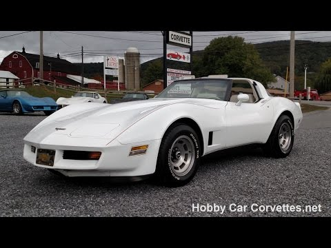 1980 White Corvette 4spd For Sale Video