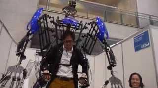Skeletonics Exarobot at CEATEC 2014