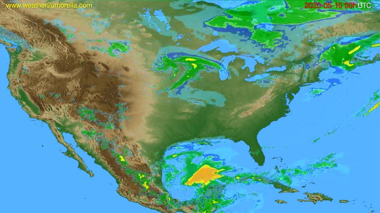 Radar forecast USA & Canada // modelrun: 12h UTC 2020-05-09
