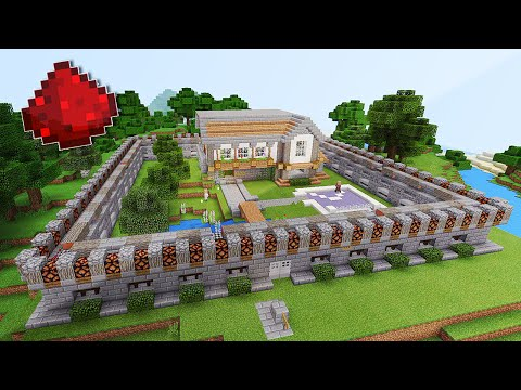 BEST MCPE REDSTONE HOUSE Pocket Edition Minecraft Project - Minecraft hauser pocket edition