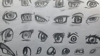 Смотреть онлайн Как нарисовать разные глаза карандашом