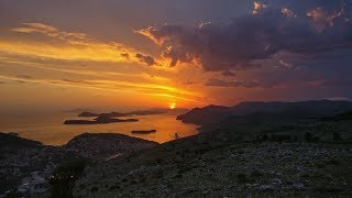 Beautiful Sunset in Dubrovnik, Croatia