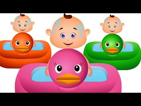 Five Little Babies Bathing In A Tub