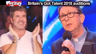 Father Ray Kelly Singing Priest 1 of Simon's MOST FAVORITE AUDITIONs EVER  Britain's Got Talent 2018
