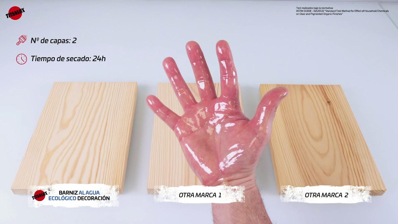 Test de resistencia a la grasa de manos – BARNIZ AL AGUA ECOLÓGICO DECORACIÓN
