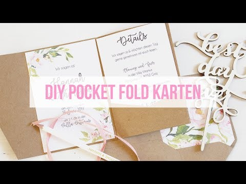 Pocketfold Karten selber basteln