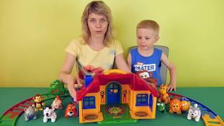 ПАРОВОЗИКИ для детей - Сборник развивающих видео про ПАРОВОЗИКИ и железные дороги