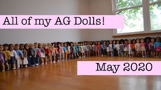 All Of My American Girl Dolls! ~ May 2020 (MASSIVE Collection! 45 Dolls!)