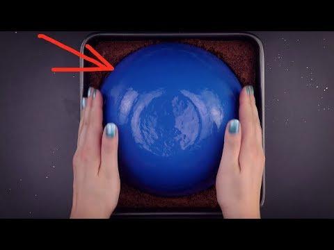 Presiona un bol sobre el pastel. ¡Es genial!