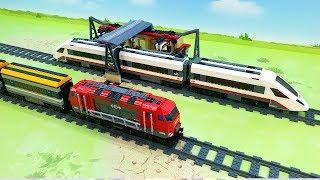 Видео для детей - Лего поезда машинки. Toy Train Cartoon for Kids | Train Videos LEGO toys toys 2019