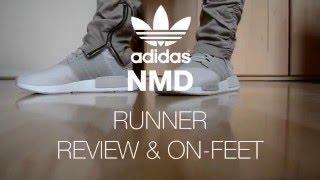 Nuevo adidas NMD R1 gris unboxing & en pies de cerca la mayoría de HD