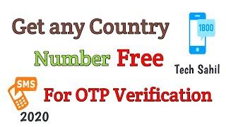 Get Number For Verification (2020) | Get Number For SMS Verification & OTP verification | Tech Sahil