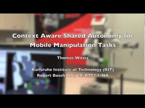 Context Aware Shared Autonomy for Mobile Manipulation Tasks - The Demo